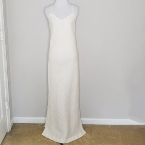 NWT Peruvian Connection Ivory Linen Slip Dress 6